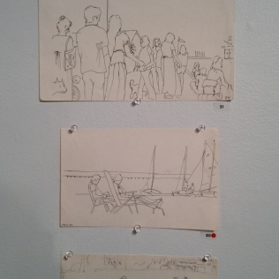 Sketches by Betty Watson (notice the beach scene at the bottom)