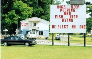 A sharp and poignant statement of what's happening in Duplin County. (image courtesy of Dove Imaging)