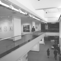 The new atrium in Hege Library in 1985 as part of the Art Gallery