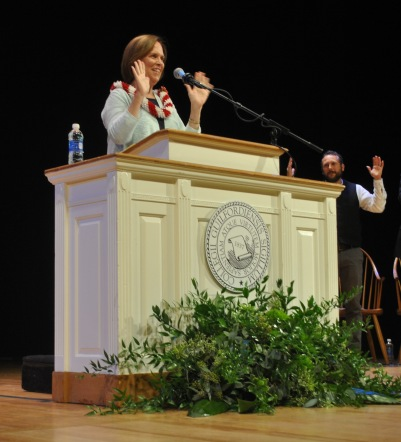 Jane's formal Inauguration was held on August 26 in Dana Auditorium.