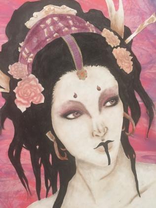 Jewel Biggs, Subtle Power, 2015, Cosmetic Makeup
