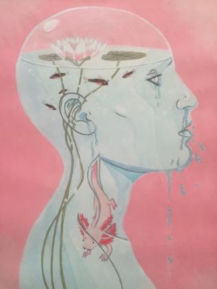 Jewel Biggs, Neotony, 2015, Acrylic Paint