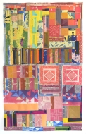 Sampler (Spring in Town), 2016, woodcut and monotype collage